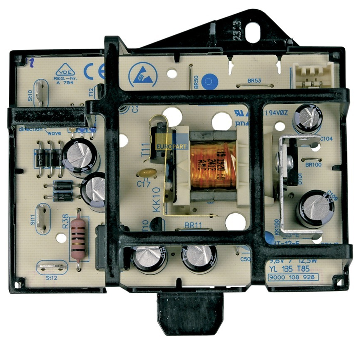 Photo of the power supply electronic board (recto)